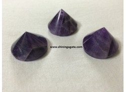 AMETHYST CONICAL PYRAMIDS