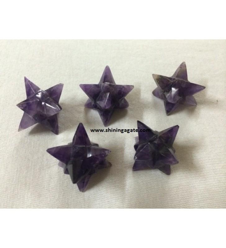 AMETHYST 14 POINT STAR