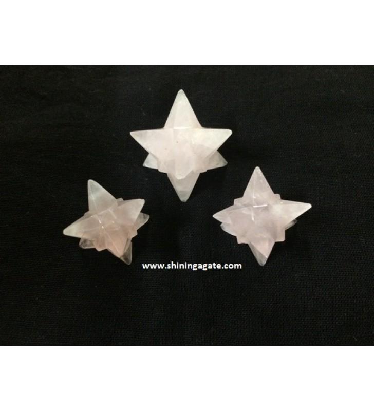 ROSE QUARTZ 14 POINT STAR