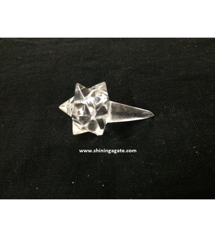 CRYSTAL QUARTZ 12 POINT STAR WITH LONG POINT