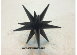 BLACK JASPER 12 POINT STAR
