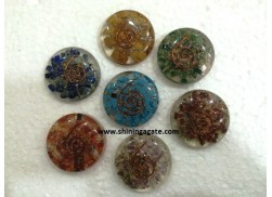 CHAKRA ORGONE DISC SET WITH COPPER WIRE
