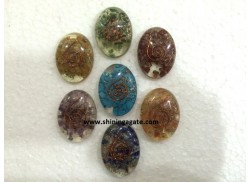CHAKRA ORGONE OVAL SET WITH COPPER WIRE