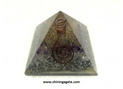 AMETHYST ORGONE PYRAMID WITH COIL POINT