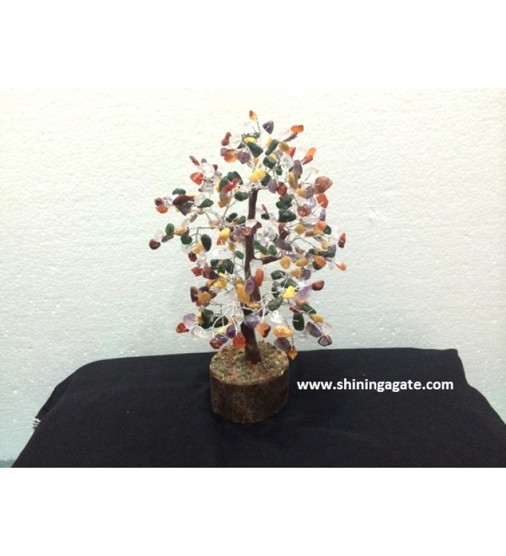 300BDS MULTICOLOR GEMSTONE TREE WITH STEP