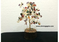 100BDS MULTI COLOR SINGLE WIRE GEMSTONE TREE