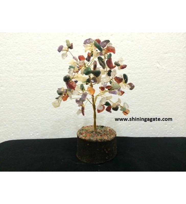 100BDS MULTI COLOR SINGLE WIRE GEMSTONE TREE