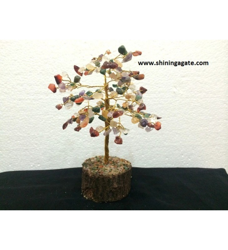 100BDS MULTI COLOR DOUBLE WIRE GEMSTONE TREE