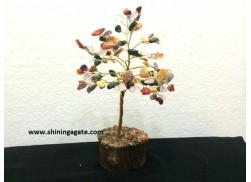 150BDS MULTI COLOR DOUBLE WIRE GEMSTONE TREE