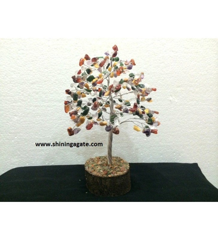 300BDS MULTICOLOR DOUBLE WIRE GEMSTONE TREE