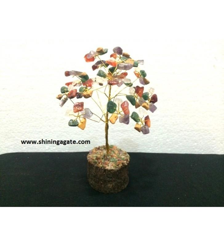 150BDS MULTI COLOR SINGLE WIRE GEMSTONE TREE