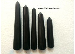 BLACK AGATE 16 FACET MASSAGE WAND