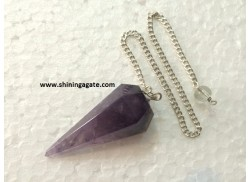 AMETHYST SIX FACETTED PENDULUM