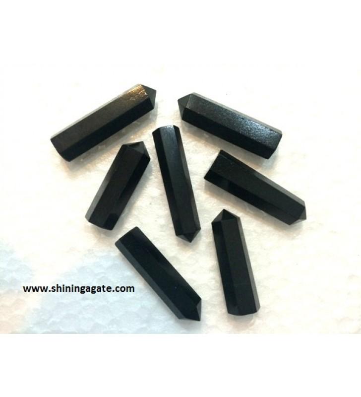 BLACK AGATE SINGLE TERMINATED PENCIL POINTS