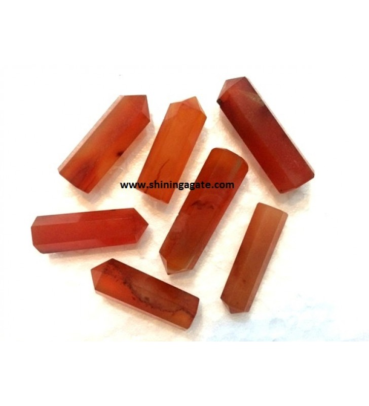 RED CARNELIAN SINGLE TERMINATED PENCIL POINTS