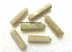 CREAM MOONSTONE SINGLE TERMINATED PENCIL POINTS
