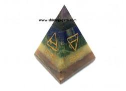 BONDED CHAKRA PYRAMID WITH 5 ELEMENTS