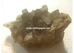 CRYSTAL QUARTZ FLAT BASE NATURAL CLUSTER