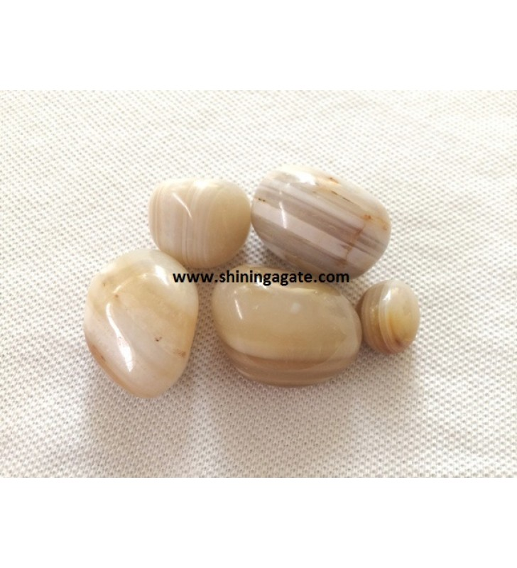 BANDED AGATE TUMBLE STONES