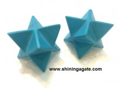 BLUE TURQUOISE MEDIUM SIZE MERKABA STAR