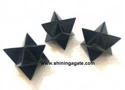 BLACK AGATE MEDIUM SIZE MERKABA STAR