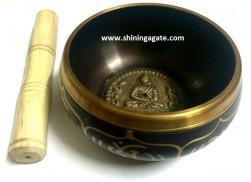 TIBETAN SINGING BOWL WITH EMBOSSED BUDDHA (5.5 INCH)
