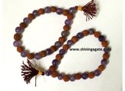 AMETHYST AND RUDRAKSH POWER BRACELETS