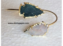 FANCY JASPER ARROWHEAD BANGLE