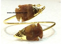 FANCY JASPER TWO TONE ARROWHEAD BANGLE