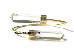 CRYSTAL QUARTZ PENCIL POINTS BANGLE