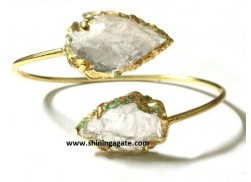 CRYSTAL QUARTZ ARROWHEAD BANGLE