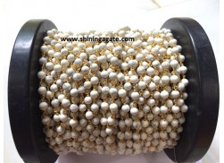 HOWLITE BEADED CHAIN WITH SPOOL (8MM)