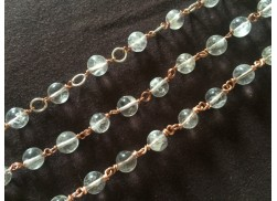 CRYSTAL QUARTZ BEADED CHAIN WITH SPOOL (8MM)
