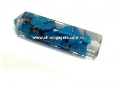 BLUE AVENTURINE 6 FACETED PENCIL POINT
