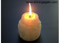 SELENITE SMALL SIZE CANDLE HOLDER