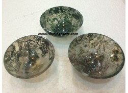MOSS AGATE 3INCH BOWLS