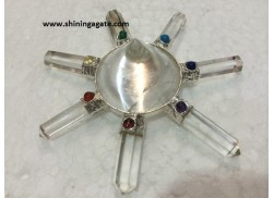 CRYSTAL QUARTZ ENERGY GENERATOR WITH CHAKRA CABS
