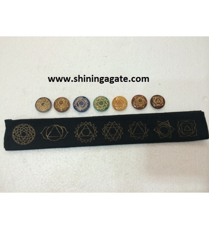 CHAKRA ENGRAVED DISC SET WITH PURSE