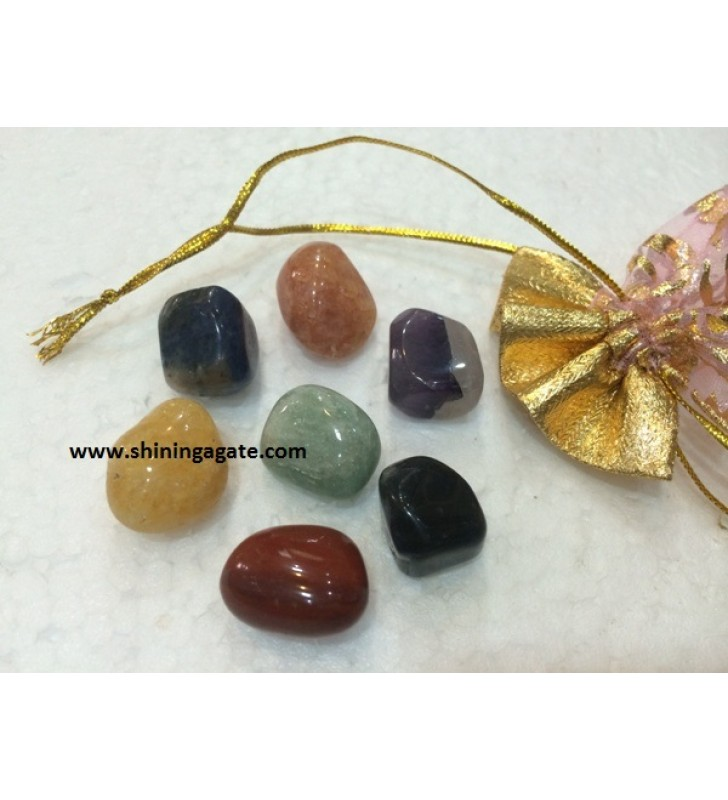 CHAKRA TUMBLE SET WITH POUCH