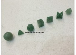 GREEN AVENTURINE 7PCS GEOMETRY SET